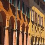 Porticoes of Bologna's old city center — Stock Photo