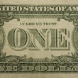 Bent one dollar bill — Stock Photo