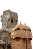 Gaudi chimney pots, barcelona — Stock Photo