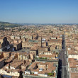 Main square aerial view for asinelli tower — Stock Photo