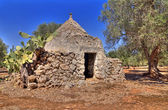 Hdr - view of puglia, trullo — Stock fotografie