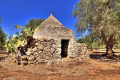 Hdr - view of puglia, trullo — Stockfoto