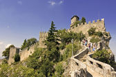 Castle della Guaita in the old town of San Marino — Stock Photo
