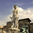 Neptune fountain in Florence — Stock Photo