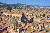 View of piazza maggiore - bologna — Stock Photo