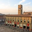 Stock Photo: View of piazzmaggiore - bologna