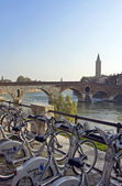 Ancient Roman bridge in Verona, Ponte pietra — Stock Photo