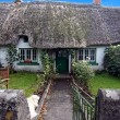 Irish traditional cottage house of Adare — Stock Photo #36523187