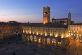 View of piazza maggiore - bologna — Stock Photo