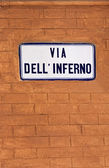 Via dell' inferno - bologna — Stock Photo