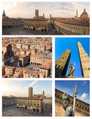 Collage of bologna - italy — Stock Photo