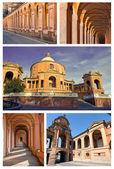 Collage of san luca - bologna , italy — Stock Photo