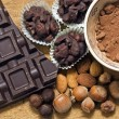 Foto de Stock  : Chocolate with ingredients