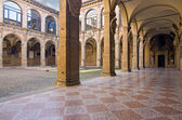 View of archiginnasio - bologna — Stock Photo