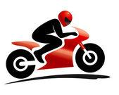 Sport bike rider — Stock Vector