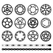 Set of chainrings — Stock Vector