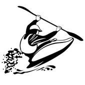 Free style kayaking — 图库矢量图片