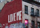 Edifício de graffiti — Fotografia Stock