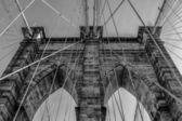 ブルックリン橋写真をクローズ アップ — ストック写真
