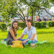 Spring Love in Park Gorkogo — Stock Photo