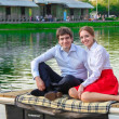 Stock Photo: Spring Love in Park Gorkogo