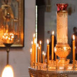 Wax candles in the church. The Russian Orthodox Church — Stock Video #12492452