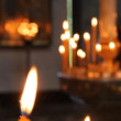 Wax candles in the church. The Russian Orthodox Church - Stockfoto