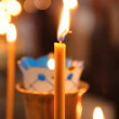 Wax candles in the church. The Russian Orthodox Church - Stock fotografie