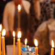 Wax candles in the church. The Russian Orthodox Church - Photo