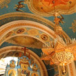 Russian Orthodox Church. The interior, icons, candle, life. — Video