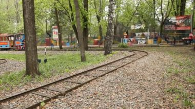 Children's railway — Stok video