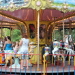 Action photo of carousel - Stock Photo