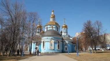 Russian Orthodox Church. The interior, icons, candle, life. — Stock Video