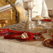 Stock Video: RussiOrthodox Church. interior, icons, candle, life.