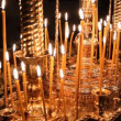 Wax candles in the church. The Russian Orthodox Church — Stockvideo