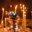 Russian Orthodox Church. The interior, icons, candle, life. — 图库视频影像