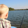 Foto Stock: Young fisherman