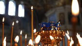 Russian Orthodox Church. The interior, icons, candle, life. — Stock Photo