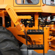 Stock Photo: Special road machinery. Tractor parts, devices