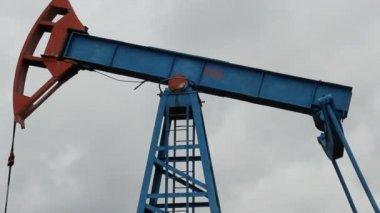 石油生产。油泵 — 图库视频影像