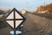 Rus demiryolları. lokomotifler, vagonlar — Stok fotoğraf