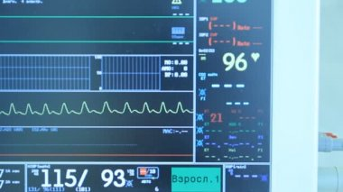 ECG monitor in operation room — Stock Video