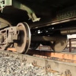 Russian Railways. Locomotives, wagons. — Stock Video