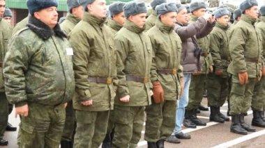 Russische Armee. Truppen schicken — Stockvideo