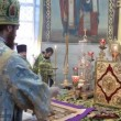 Stock Video: Neftekamsk, RUSSI- OCTOBER 23: Liturgy in RussiOrthodox Church