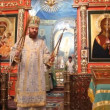 Stock Video: Neftekamsk, RUSSI- OCTOBER 23: Liturgy in RussiOrthodox Church on October 23, 2012.