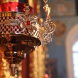 Russian Orthodox Church. The interior, icons, candle, life — Stock Video