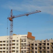 Lifting construction crane. construction site - Stock Photo