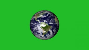 Rotating planet Earth. Without atmospheric effects. — Stock Video