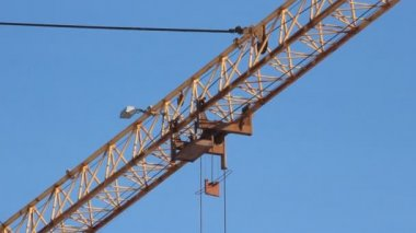Lifting construction crane. construction site — Stock Video